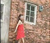 Exhibition avec une jeune chinoise