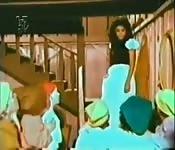 Parodie vintage de blanche neige et les sept nains