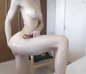 Ado sexy fait une séance webcam torride