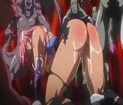 Une chasseuse de démons se fait défoncer la chatte par plusieurs tentacules, vidéo Hentai super chaude
