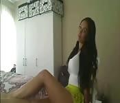 Magnifique Black aguiche en webcam