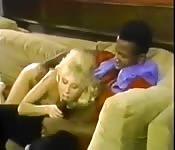 Scène interraciale vintage