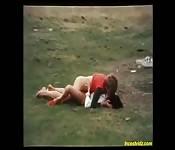 Une mère vintage se tape son fils